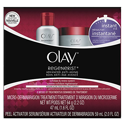 Microdermabrasion Kit by Olay Regenerist, Face Peel & Scrub for Dry Skin, Reduce Wrinkles & Fine...