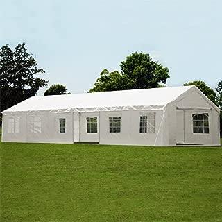 Deuba® Partyzelt 6x12m Pavillon Festzelt Carport Bierzelt Gartenzelt Familienzelt Zelt | 12 Rundbogenfenster | 72m² | Modellauswahl