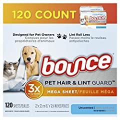 3x more pet hair repelling power vs. Bounce dryer sheets Free of perfumes Reduces wrinkles and static, adds softness Lint roll less 2x the size of most dryer sheets