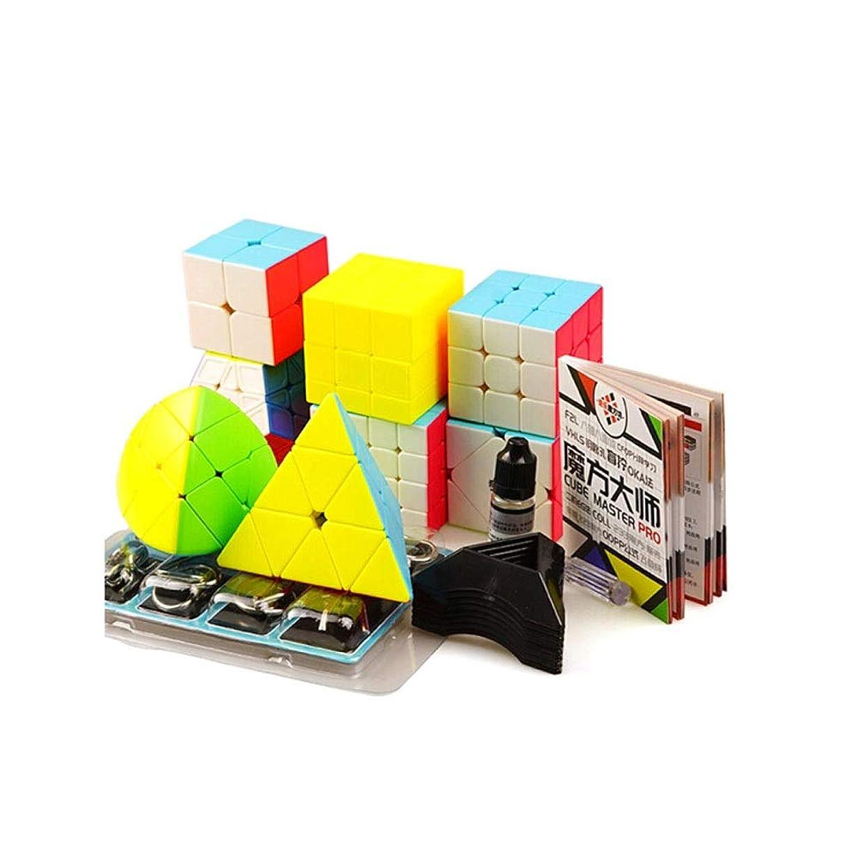 スピーチ悪党有効化Jinnuotong ルービックキューブ、スムーズで手頃な価格のルービックキューブスーツ、品質設計、安全で環境に優しい設計、贈り物として適している(8セット) エレガントで快適 (Edition : Eight sets)