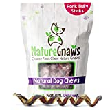 Nature Gnaws Pork Bully Stick Springs for Dogs - Premium Natural Bones - Long Lasting Dog Chew Treats for Small & Medium Dogs - Rawhide Free - 7-8 Inch (12 Count)