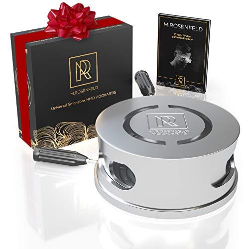 M. ROSENFELD Premium Shisha Smokebox HOOKARTIS – Shisha Kopf Aufsatz mit einzigartigem Doppelring-Boden - passt für alle gängigen Köpfe, Designed in Germany mit GRATIS E-Book