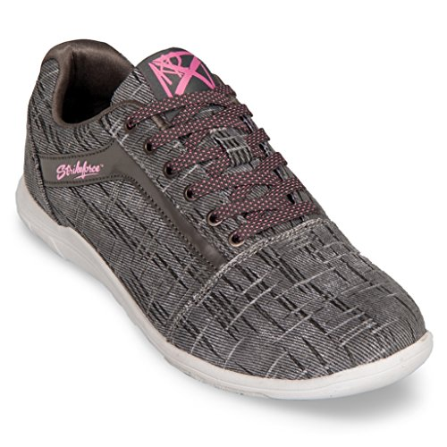 KR Strikeforce Womens Nova Lite Bowling Shoes- Ash/Hot Pink (6 1/2 M US, Ash/Hot Pink)