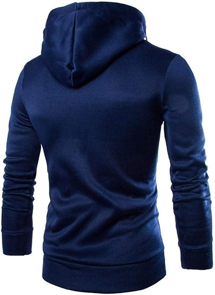 Hoodies for Men Cozy Double Zipper Long Sleeve Mens Pullover Casual Drawstring Pocket Sweatshirt Sport Outwear