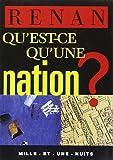 Qu'est-ce qu'une nation by Ernest Renan(1905-06-19) - Mille et une nuits
