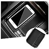 RUIYA Caja de almacenamiento para consola central Tesla Model X/Model S, organizador de accesorios de coche 2021, color negro