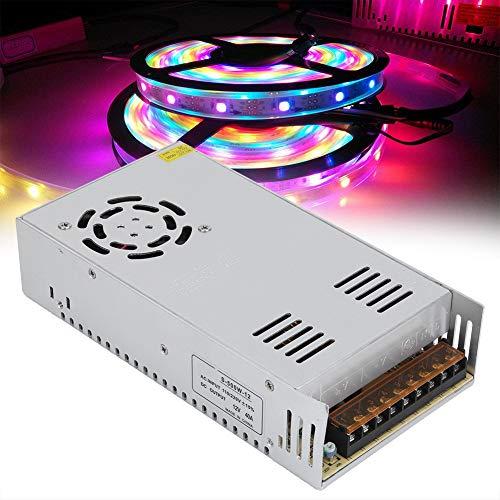 Transformador de fuente de alimentación estable Disipación rápida de calor LED Interruptor de fuente de alimentación seguro para ingeniería informática (12V40A (500W), rosa)
