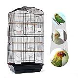 JUEYAN XL Cage à Oiseaux Perruches avec 2 Portes 46 x 36 x 92 cm ,Pour Perruches/Cacatoès/Perroquets/Canaries
