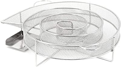 HappyU&M Stainless Steel Cold Smoke Generator-Hot or Cold Smoking on Any BBQ Grill and Smoker, Perfect for Smoked Salmon, Cheese, Pork and More (Round)