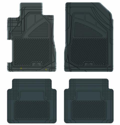 Koolatron Pants Saver Custom Fit 4 Piece All Weather Car Mat for Select Honda Civic Models (Black)
