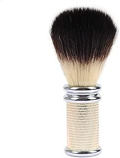Synthetic Hair Shaving Brushes, JR Black Synthetic Brush Hair Knot with Gold Color Metal Handle Shaving Brushes for Men, Safety Razor, Double Edge Razor, Shaving Razor