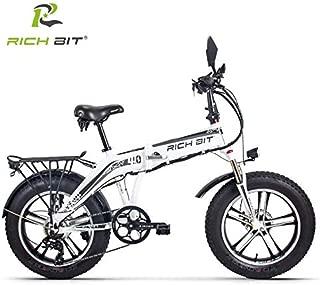 【プレゼントキャンペーンさらにキャッシュレス・消費者還元%5!】RICH BIT TOP016 電動ハイブリッドファットバイク スノーバイク「サンドバイク-PLUS」(WHITE)