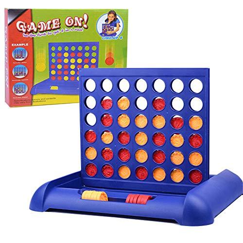 LQKYWNA Dreidimensionales Kinder Lern Schach Spielzeug Vier in Einer Reihe 4 in Einer Linie Lustige Kinder Familien Parteien Classic Bingo Brettspiele Unterhaltung