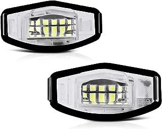 VIPMOTOZ Full LED License Plate Light Lamp Assembly Replacement For Honda Accord Sedan Odyssey Pilot Civic & Acura MDX TSX TL ILX RDX RL - 6000K Diamond White, 2-Pieces