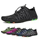 Water Shoes Mens Womens Beach Quick Dry Swim Barefoot Shoes Aqua Sock Outdoor Athletic Pool Shoes...