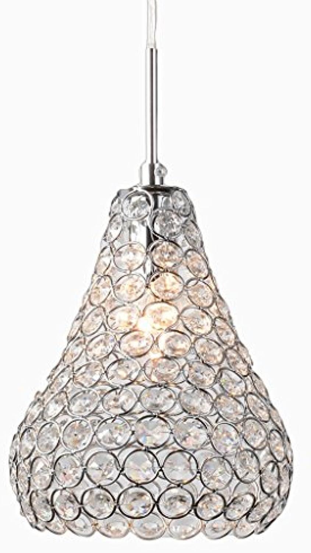 Moderne Kristall hngende Lichter SYAODU Restaurant Schlafzimmer Korridor Balkon Schaukel Lichter, Zeichnung Chrom Pendelleuchte (Silber)