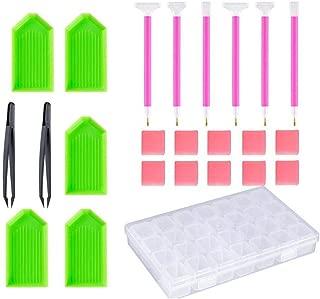 Prettyia 11pcs DIY 5D Diamond Painting Tools Set Stitch Pen Glue Tweezer Kit