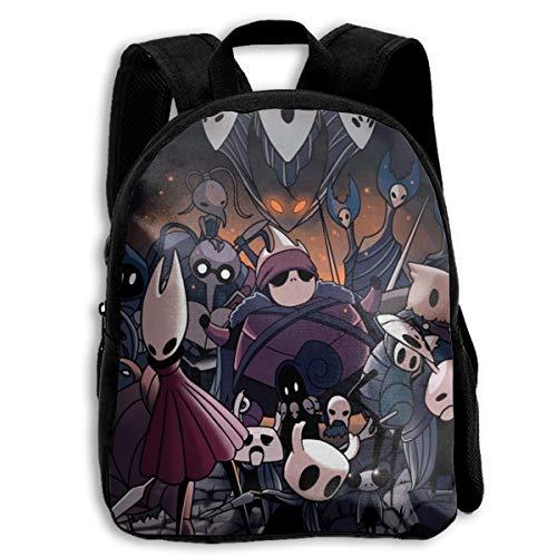 TRYO&MWO Hollew Knight Boys & Girls Full Printed School Bag Large Capacity Laptop Backpack Students Shoulder Bag