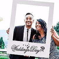 PULABO 結婚式の好意DIY周年記念額縁小道具写真ブースパーティーの装飾-ホワイトのあるコストパフォーマンスの高い優れた物耐久性