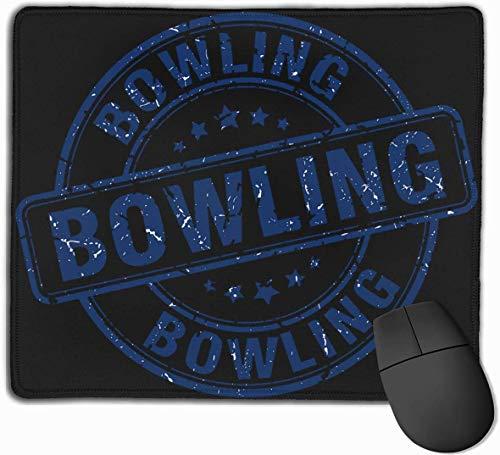 Bowling Blau Runde Vintage Computer Mauspad Spiel rutschfeste Gummi Dicke wasserdichte Hochleistungs-Mauspad 9,8