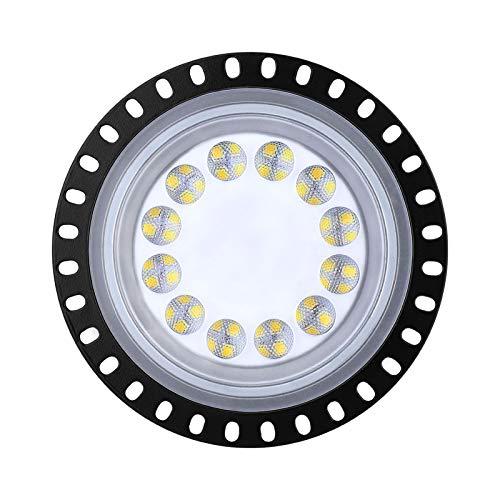 Sararoom LED Lámpara de Alta Bahía, 50W UFO Lámpara Industrial, 4000LM Focos Led Interior Techo, 6500K Industrial LED Iluminación Comercial Proyector Led para Aeropuerto Almacén Fábrica Sótano