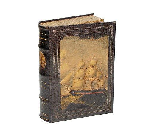 zeitzone Hohles Buch mit Geheimfach Buchversteck Segelschiff Antik-Stil 33cm