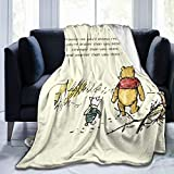 Gaodim Super Soft Edward Pooh Bear Win-Nie Blanket, Light Plush Bed The Pooh Blanket, Suitable for Adults and Children to use 50'x40'