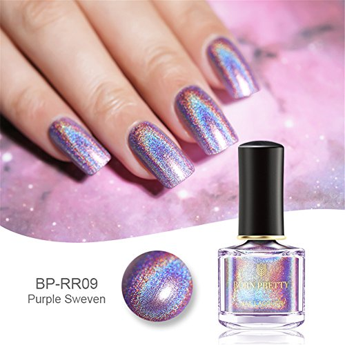 Born Pretty 6ml Holographic Shining Glitter Super Shine Nagellack Polish Neu H009
