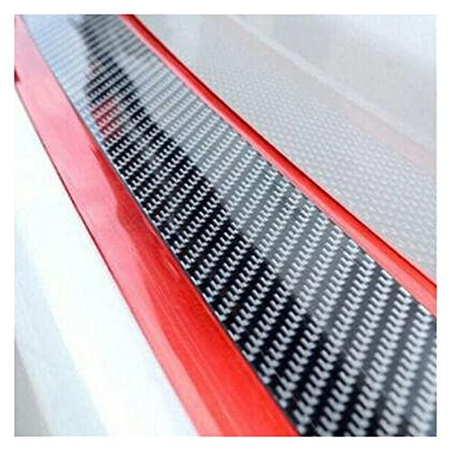 shiyi 2pcs Set Bumper Strip Puerta Puerta Body Carry Carbon Fiber Protectores Caucho SUV Etiqueta