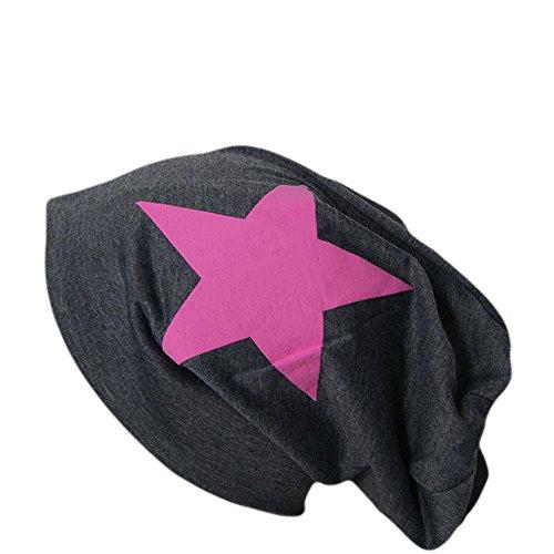 Easy4fashion - Bonnet - Homme Anthrazit (Stern Pink) taille unique