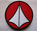 Robotech Red & White Logo Macross Rick Hunter Roy Fokker Zentraedi Skull 3D Tactical Patch Military Embroidered Morale Tags Badge Embroidered Patch DIY Applique Shoulder Patch Embroidery Gift Patch