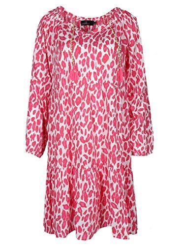 Zwillingsherz Sommerkleid im Leo Design – Hochwertiges Abendkleid für Damen Frauen Mädchen - Freizeitkleid Strandkleid - Locker luftig - Casual – Langkleid - Perfekt für Frühling Sommer und Herbst