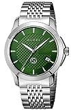 [グッチ] 腕時計 Gタイムレス グリーン文字盤 YA1264108 メンズ 並行輸入品 シルバー