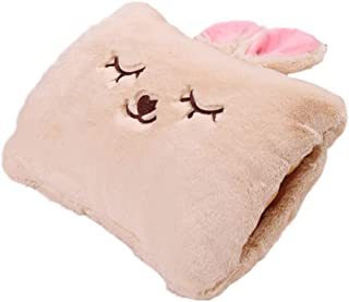 Milkycat Cute Hot Water Bottle,Portable Rechargeable Electric Hot Water Bag,Plush Bunny Hand Warmer(Winter Expressive Gift,Beige Rabbit)