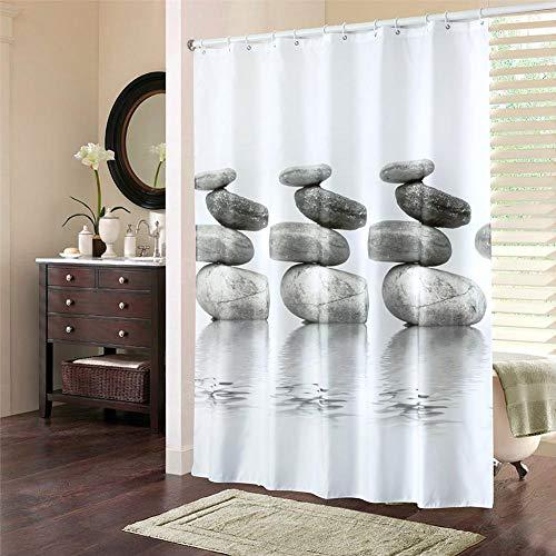 Cortina de ducha moderna Cortina de ducha, juegos de cortinas de ducha Juego de cortinas de ducha, ducha casera para baño para hotel(180 * 200CM)