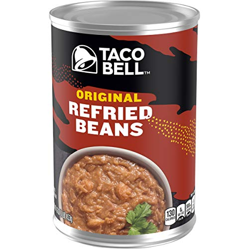 Taco Bell Original Refried Beans, 1 Pound (Pack of 12)