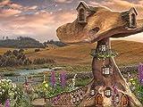 Puzzle 1000 Piezas Puzzle Casa de Setas Puzzle de Madera de 1000 Piezas Juguetes educativos de Entretenimiento Familiar para Adultos y niños 75cm*50cm JuZi
