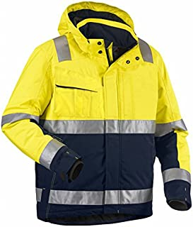 Blaklader Workwear High Vis Winter Jacket Yellow/Navy Blue XXL
