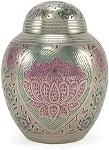 Near & Dear Pet Memorials Lotus Heart Pet Cremation Urn, 40 Cubic Inch, Multi-Color