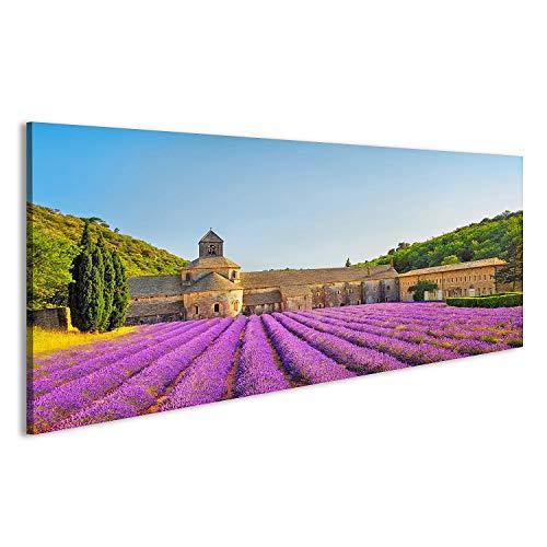 bilderfelix® Acrylglasbild Lavendel in der Provence Kloster Glasbild Wandbild auf Glas