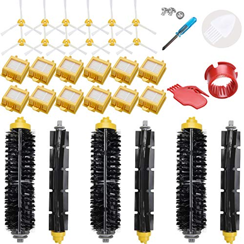 LOVECO Replacement Filter and Brush Kit for iRobot Roomba 700 Series 760 770 780 790,(Accessory Kit Include 3 Bristle and...