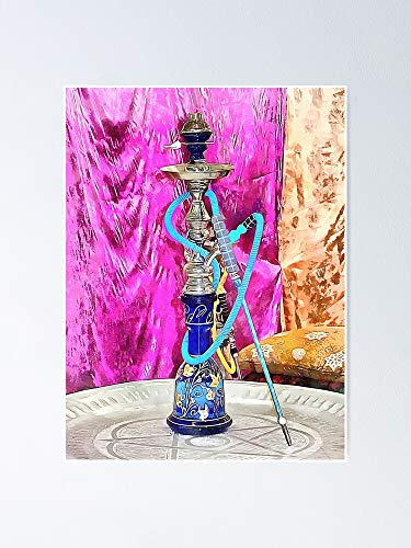 Exotic Oriental Hookah Pipe 3 Poster - for Office Decor, College Dorm, Teachers, Classroom, Gym Workout and School Halloween, Holiday, Christmas Party ! Great Inspirational Wall Art Poster.