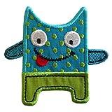TrickyBoo 2 Aufbügler Freches Monster 7X6cm Möwe 11cm High Set Aufnäher Flicken Applikationen Zum Ausbessern Von Kinder Kleidung mit Design Zürich Schweiz für Deutschland und Österreich