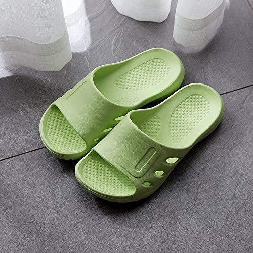 quming Zapatillas de Ducha Antideslizante rápido,Sandalias de Suela Gruesa para Interior de Verano, Zapatillas de Suela Blanda para baño Antideslizantes, Verde Fluorescente_38-39