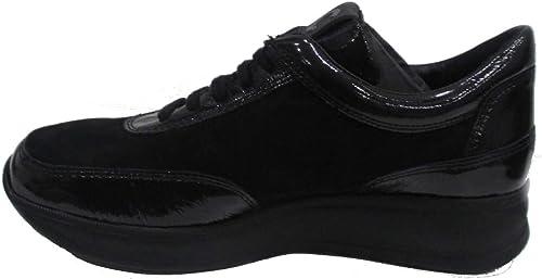 CINZIA SOFT mujer zapato de cuero Confort negro IV8137C-CS 001 39 negro