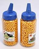 Absolut hochwertige gelbe Kugeln 4000 Stück Plastik 6 mm Munition in praktischer Dosierflasche für S