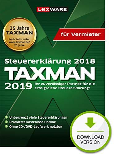 Lexware Taxman 2019 Download für das Steuerjahr 2018|Übersichtliche Steuererklärungs-Software für Vermieter