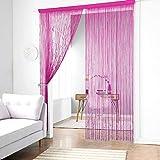 Cortina de tiras Taiyuhomes, para decoración del hogar y separador con borla, tela, rosa (b),...