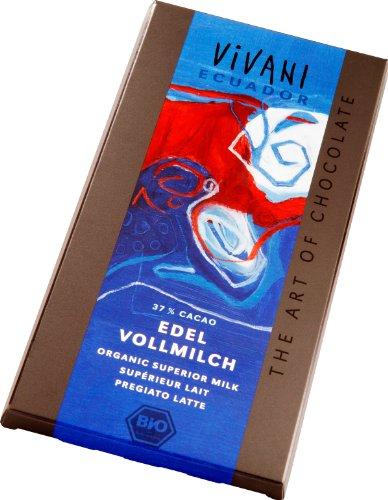 Vivani Chocolade Melk Superieur 37% Ecuador, 100 g, 1 Units
