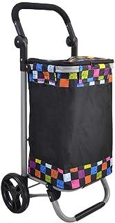 LQBDJPYS Light Weight Shopping Trolley 49L Large Capacity Luggage Cart Folding Wheeled Push Cart Bag Folding Luggage Bags